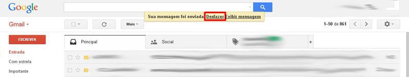Cancelar envio email gmail